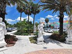 Some of John Ringling's statures are being displayed at St. Armand's Circle
