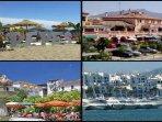 Pepe's beach bar/chiringuito. Benvista shopping precinct. Orange Square Marbella and Puerto Banus
