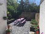 Courtyard sunny garden