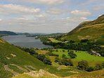 The stunning view from the top of Ullswater near Howtown looking back down the Lake to Pooley Bridge