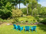 Serene outdoor seating