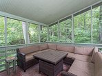 screened porch area