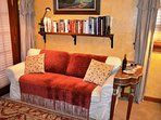 Arcata Stay's Rose Court Cottage studio vacation rental convertible sofa bed