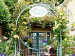 Arcata Stay's Rose Court Cottage studio vacation rental entrance