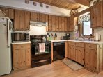 The fully equipped kitchen has all of the appliances and plenty of counter space to prepare all of your meals during