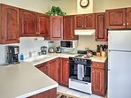 Cook up your favorite family recipes in the fully equipped kitchen.