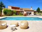Villa Cicada - The pool and Your private swimming pool with large deck area and numerous sun chaises