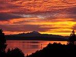 Sunrise over bay