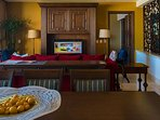 TV in every room with satellite cable programming and internet.
