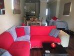 Open plan lounge, dinning, kitchen