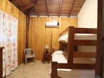 Third bedroom with twin over double bunk