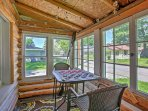 Your group of 7 will be able to play checkers on the covered patio.