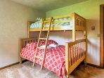 The twin-over-full bunk bed is great for both kids and adults.