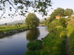 View of the House from river Dyfi