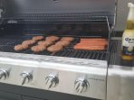 Large gas BBQ grill