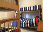 Spacious Bunk Room with 2 Double/Single Bunk Beds