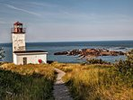 West Quaco Lighthouse is 5mins walk from the house. You can sit on the rocks and meditate.