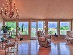 Enjoy panoramic views while relaxing inside.