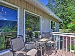 You'll have access to the deck through the master bedroom.