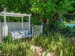 ... or snooze in the swing under the almond trees till time for your massage or the next meal.