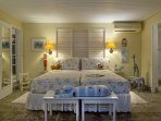 ... Bedroom 4, the children's room.  These adjoining rooms form a convenient family suite with two bathrooms, one...