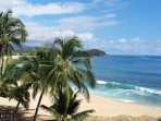 Beautiful Makaha Beach and coastline views