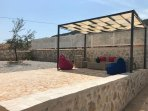 Pergola with seating - ideal for some shade in the afternoon