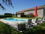Holiday home/gite for 6 people with private swimming pool; Southern Charente