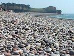 Budleigh Salterton beach is a few steps away.