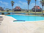 Pool & children's pool on activity island with club room with bathrooms, washer/dryer & ice machine