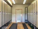Ski Locker Room on the Ground Level at Winter Green