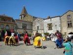 La bastide de Monpazier construite au XIIIème siècle