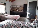 monolocale ZAFFIRO con aggiunta del divano letto