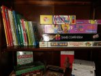 giochi e libri per passare il tempo , forniti gratuitamente