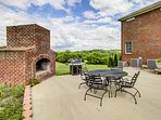 Situated on 12  acres of farmland, you'll love relaxing on the patio next to the brick fireplace as you gaze out at the...