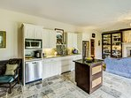Prepare home-cooked meals in this well-stocked kitchenette.