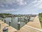 Enjoy access to the nearby marina during your stay.