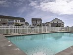 Use the community amenities, which include a pool, marina, and fitness center.