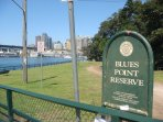 Blues Point Reserve is one of the best places for viewing the harbour views of the city