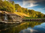 Outdoors,Pond,Water,Countryside,Rock