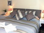 Bedroom one with superking or twin beds