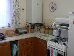 Fully-equipped self-catering kitchen.
