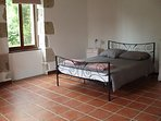 Double room downstairs with lovely views of the orchard area, great for the children