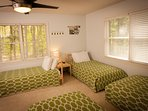 In the fall, winter and spring, the home accommodates retreat groups with twin beds.
