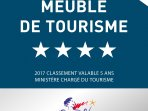 In June 2017 we were awarded 4-stars from the 'Etoiles de France'