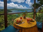 Coral Bay, St. John Honeymoon/Lovers Vacation Villa - View for Breakfast - Teahouse Treehouse
