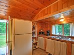Prepare a home-cooked meal in the well-equipped kitchen.