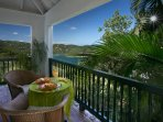 Coral Bay, St. John VI Rental Villa for Couples or Small Families:  Breakfast nook - Astral Ridge