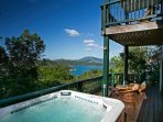 Coral Bay, St. John VI Rental Villa for Couples or Small Families: Northwest Pavilion Spa - Astral