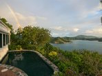 Coral Bay, St. John VI Rental Villa for Couples or Small Families:  Rainbow - Astral Ridge